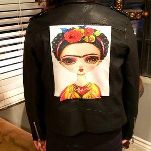 Cavalini Custom Fridah Faux Leather Jacket